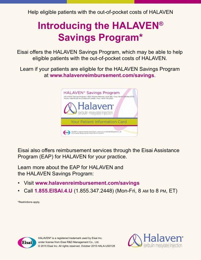 Halaven Savings Program